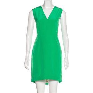Tibi silk mini dress kelly green size 6